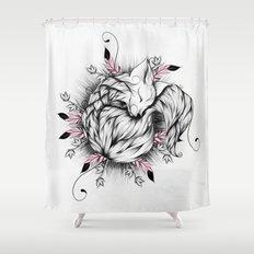 Little Fox Pink Version  Shower Curtain