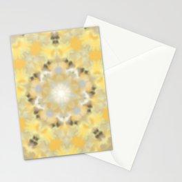 Orange and Yellow Kaleidoscope 4 Stationery Cards