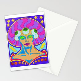 Lady of the Cosmic Eye Stationery Cards