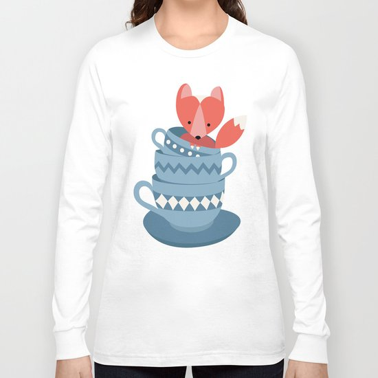 fox in a cup Long Sleeve T-shirt