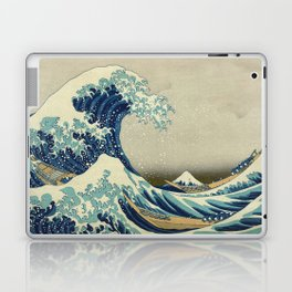 Katsushika Hokusai -The Great Wave off Kanagawa Laptop & iPad Skin