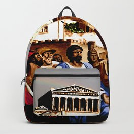 PERIKLES - the speech - color version Backpack