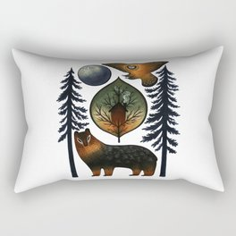 The Bear and the Barn Owl Rectangular Pillow