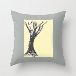 unblinking tree Throw Pillow
