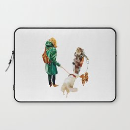 Walk with a dog Laptop Sleeve