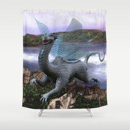 Fairytale Dragon Shower Curtain