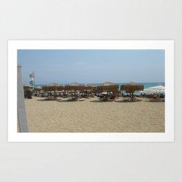 Beach in Greece Art Print