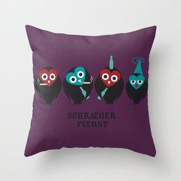 schraegerfuerst, the nightowls Throw Pillow