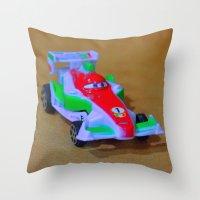car Throw Pillows featuring car by aticnomar