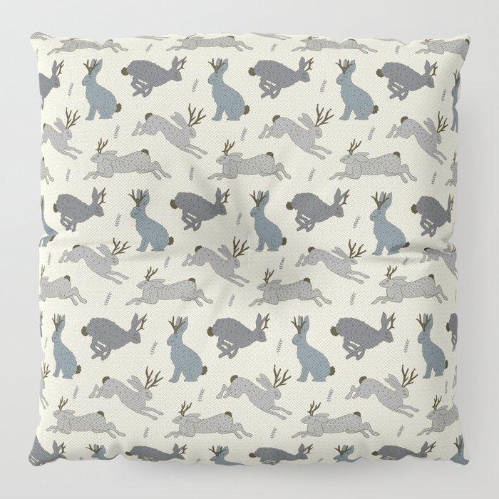 Jackalope Snow Parade Floor Pillow