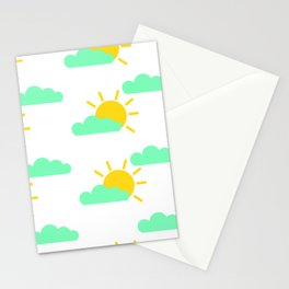 Cloudy Suns Stationery Cards