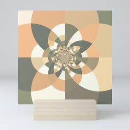 Beige Peach Kaleidoscope Mini Art Print
