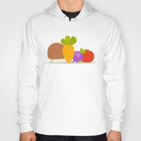 vegetables Hoodies featuring Vegetables by Jane Mathieu