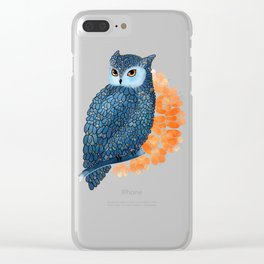 Blossoming owl Clear iPhone Case