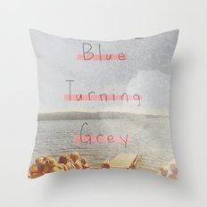 Blue Turning Grey | Collage Throw Pillow