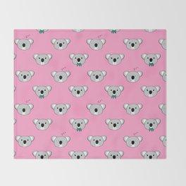 Koala Cuddles Throw Blanket