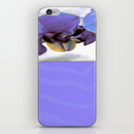 Purple Orchid and Zebra iPhone Skin