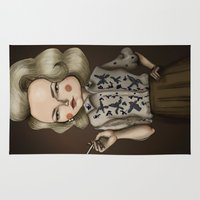 mad men Area & Throw Rugs featuring Betty Draper (Mad men) by Maripili