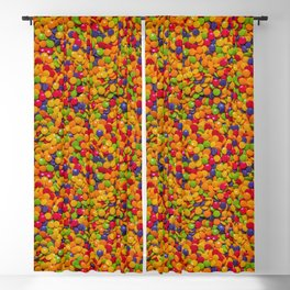 Sour Candy Buttons. Real Candy Pattern Blackout Curtain