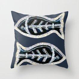 Ceramic Fishes Throw Pillow