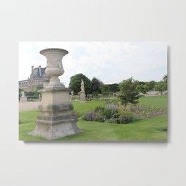 Paris Park Near Louvre Metal Print
