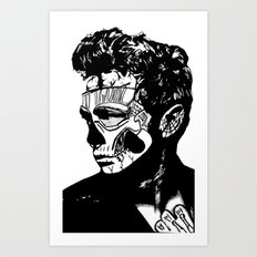 James Dean. Rebel: Zombie. Art Print