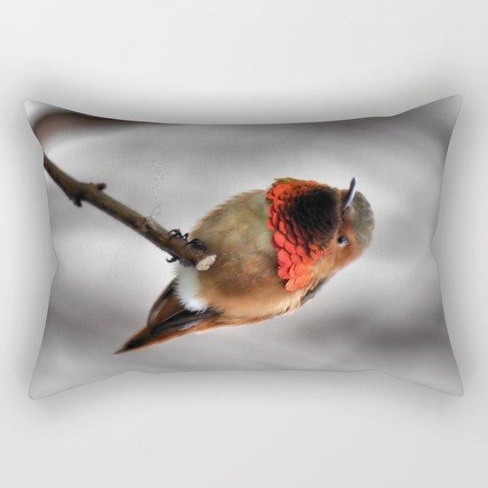 Allen's Hummingbird. © J. Montague. Rectangular Pillow
