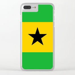 Sao Tome And Principe Flag Clear iPhone Case