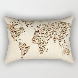Cats Map of the World Map Rectangular Pillow