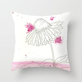 Echinacea Magic Throw Pillow