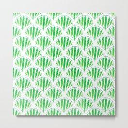 Beautiful Green Scalloped Metal Print