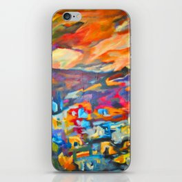 My Village   Colorful Small Mountainy Village iPhone Skin