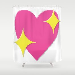 Sparkling Heart Shower Curtain