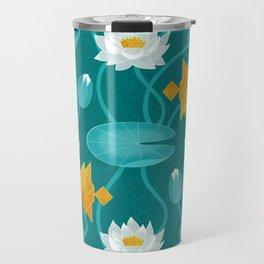 Tangram goldfish and water lillies Travel Mug
