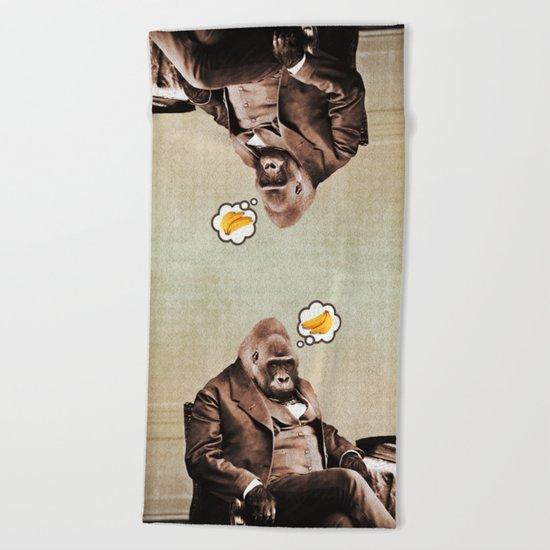 Gorilla My Dreams Beach Towel