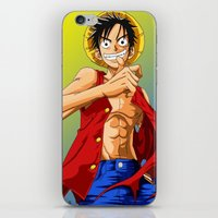 luffy iPhone & iPod Skins featuring Monkey D Luffy by RuePrez