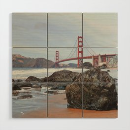 Golden Gate Bridge Wood Wall Art