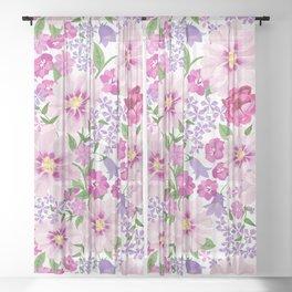 FLOWERS VI Sheer Curtain