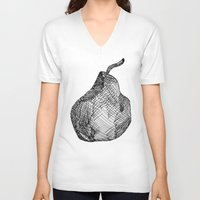 pear V-neck T-shirts featuring Pear by Of Newts and Nerds