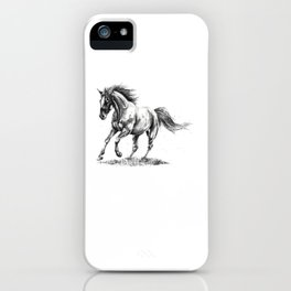 Running Horse Horseback Riding Horse Lover iPhone Case