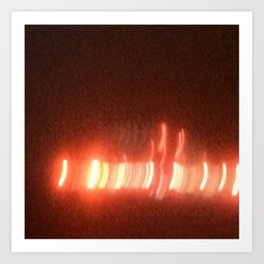 Abstracte Light Art in the Dark 15 Art Print