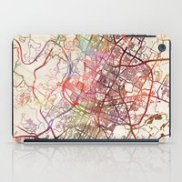 austin iPad Cases featuring Austin by MapMapMaps.Watercolors