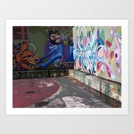 Street Art in a Basketball Court - San Juan, Puerto Rico Art Print