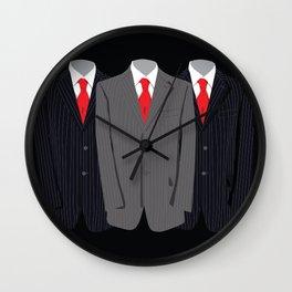 Grey Suit Wall Clock