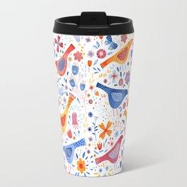 Birds in a Garden Travel Mug