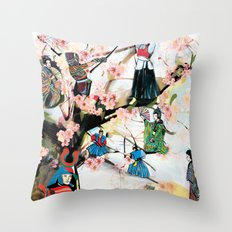 Japanese 2  Throw Pillow