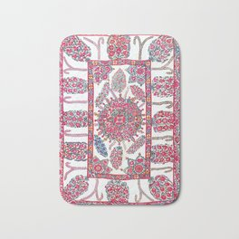Samarkand Suzani  Antique Uzbekistan Embroidery Bath Mat