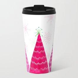 Pink Christmas trees Travel Mug