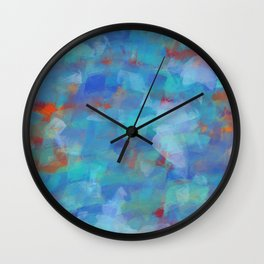 Paint Strokes Two Wall Clock