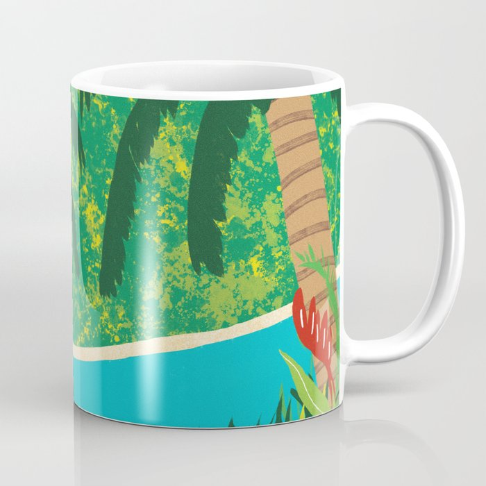 Tropical Island Getaway Coffee Mug